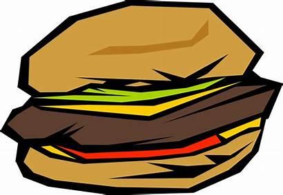 Hamburger Clip Clipart Hamburgers Transparent Fond Dessin