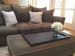 large square diy coffee table tray for ottoman coffe table With coffee table for large sectional