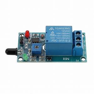 Flame Flare Detection Module Flame Sensor 12v Relay Board