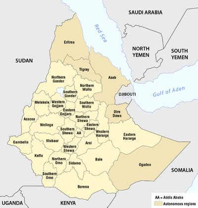 Provinces of Ethiopia - Wikipedia