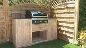 meuble exterieur pour bbq With superior photo cuisine exterieure jardin 1 cuisine dete exterieure trouvez le bon amenagement
