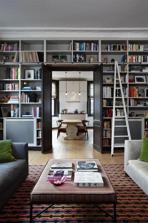 cool home libraries home library cool rug bookshelves pinterest