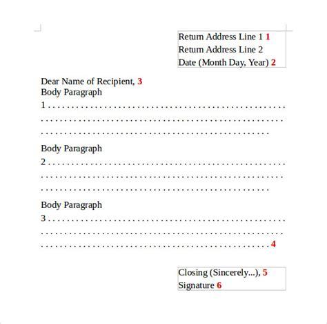 informal letter format 8 sle informal letters sle templates 67770