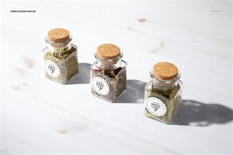 This jar mockup can showcase your best spices packaging design in a photo realistic look. Spice Jar Round Labels Mockup Set on Behance