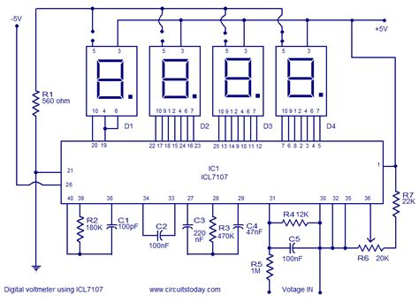 Digital Voltmeter Using Icl Electronic Circuits