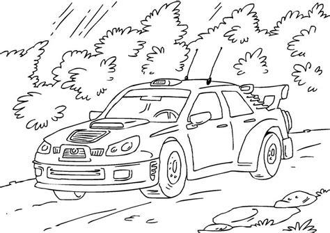 malarbild rallybil bild