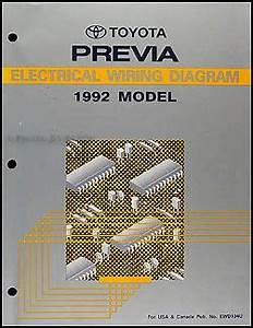 Electrical Wiring Diagram 1992 Toyota : 1992 toyota previa wiring diagram manual original ~ A.2002-acura-tl-radio.info Haus und Dekorationen