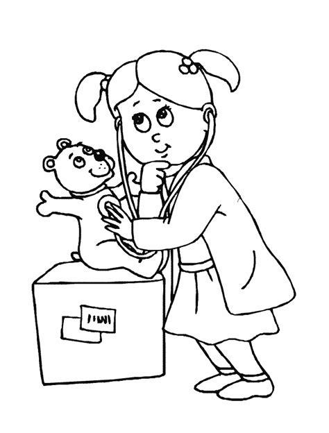 kid women doctor coloring sheet printable doctor day