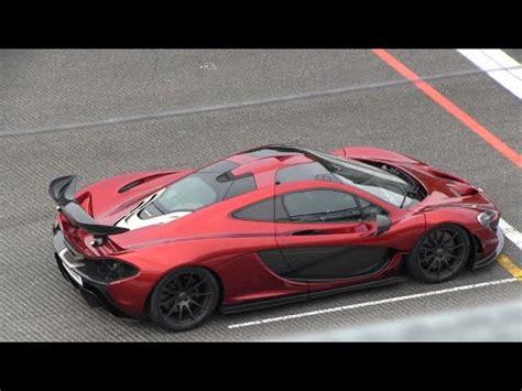 volcano red mclaren p full throttle sounds  race mode youtube