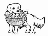 Golden Retriever Coloring Pantry Hard Drawing Thank sketch template
