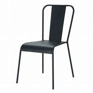 Chaise Tolix Maison Du Monde : chaise indus en m tal noire factory maisons du monde ~ Melissatoandfro.com Idées de Décoration