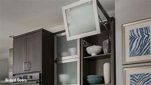 schuler cabinetry bi fold kitchen cabinet doors youtube With kitchen cabinets lowes with stop sign stickers