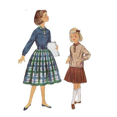 middy blouse 1950s simplicity 2205 39 s middy blouse and skirt size 7