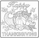 Feast Thanksgiving Pages Coloring Getcolorings sketch template