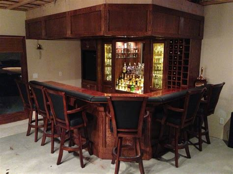 Complete Bar by Shannon S Basement Bar The Wood Whisperer
