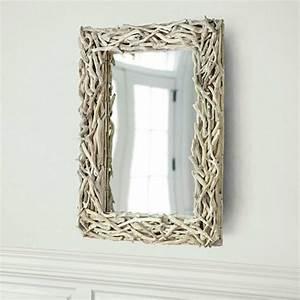 voyez le monde dans le miroir a bois flotte archzinefr With encadrement miroir
