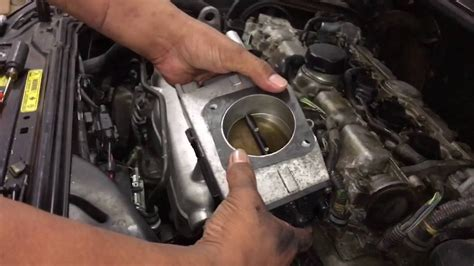 volvo xc throttle body removal install youtube