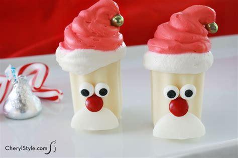 Nobake Mini Santa Desserts Recipe