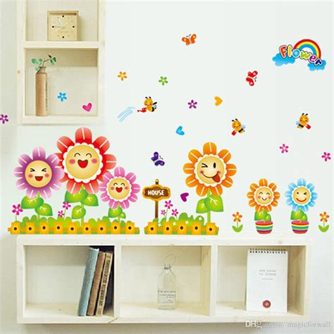 cute spring wall decor stickers  kids room nursery