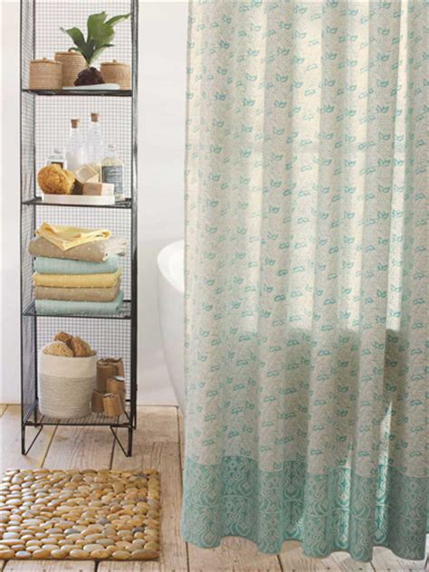 indian block print shower curtain everything turquoise