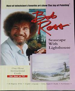Bob Ross painting DVD Seascape Lighthouse painting dvd art ...