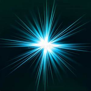 Light Flare Blue Effect. Vector Stock Vector - Image: 32544736
