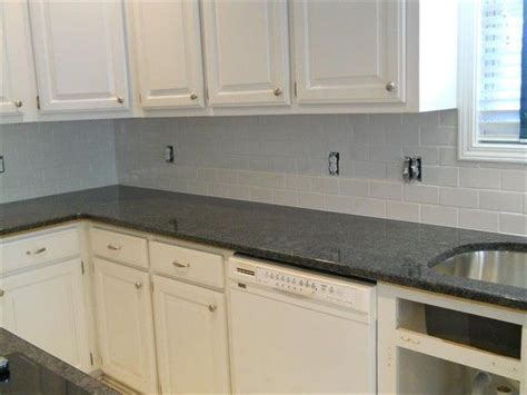 subway tile in kitchen steel grey granite white subway tile 1 kitchen