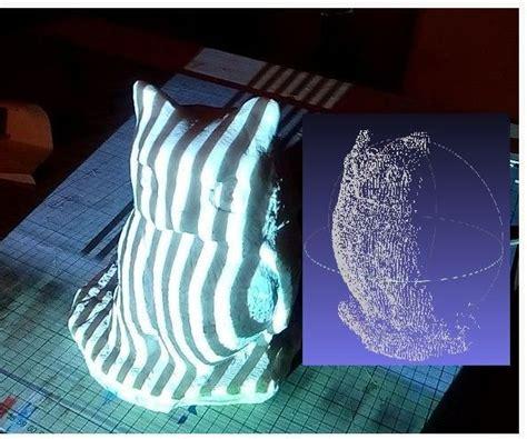 diy  scanner based  structured light  stereo vision
