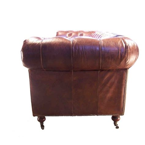 canapé chesterfield vintage canapé 3 places chesterfield cuir marron vintage drapeau