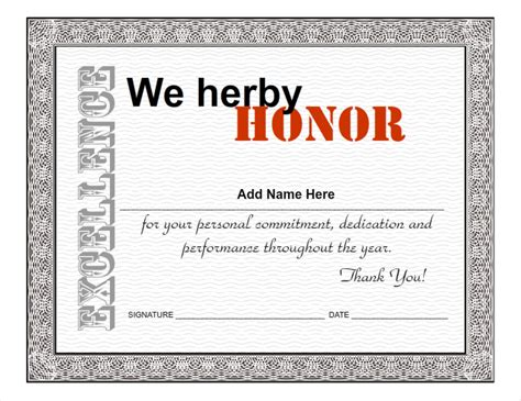 employee recognition certificates templates free employee award certificate