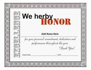 Employee Certificate Templates Free Employee Appreciation Certificate Template