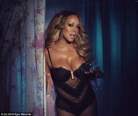 videos hot de musica mariah carey sizzles in skimpy lingerie in new music video