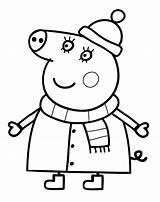 Pig Peppa Coloring Printable Mummy Mama Anywhere Won sketch template