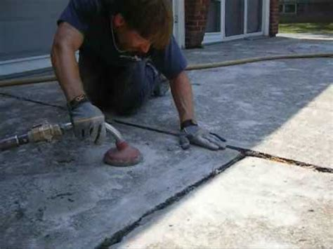 a 1 concrete leveling of driveway leveling project