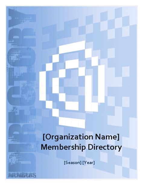 membership directory template microsoft word template