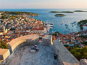 Hvar A Beautiful View Of The Fortress City Bay Islands