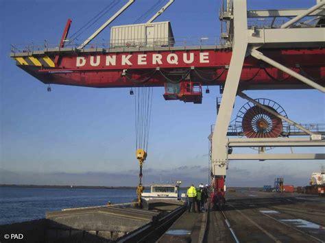 port autonome de dunkerque un nouveau portique fluviomaritime 224 dunkerque mer et marine