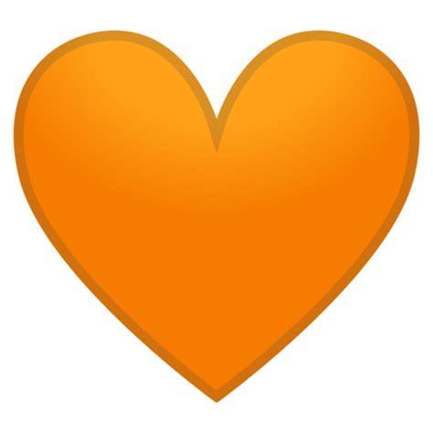 coracao laranja emoji coracao laranja
