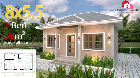Small House Plans 8x5 5 with One Bedrooms Gross Hipped