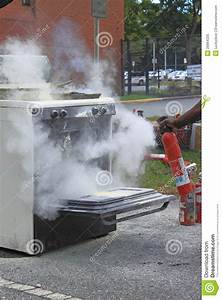 Fire Extinguisher Demonstration Royalty Free Stock Photo ...