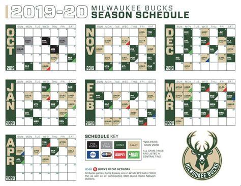 nba milwaukee bucks season schedule released fm fan
