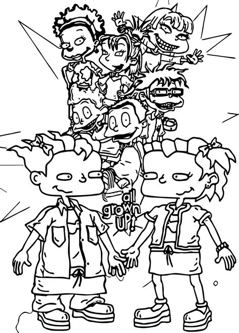 grown up coloring pages all grown up rugrats coloring page wecoloringpage