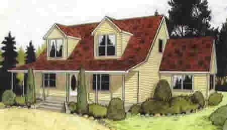 C115521 1 by Hallmark Homes Cape Cod Floorplan