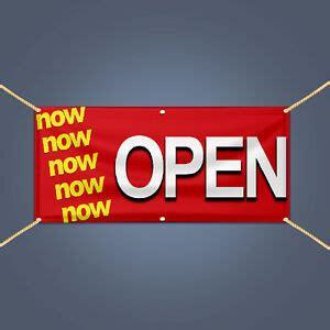open vinyl banner outdoor business shop advertising