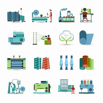 Textile Mill Icons Vector Flat Vecteezy Clipart
