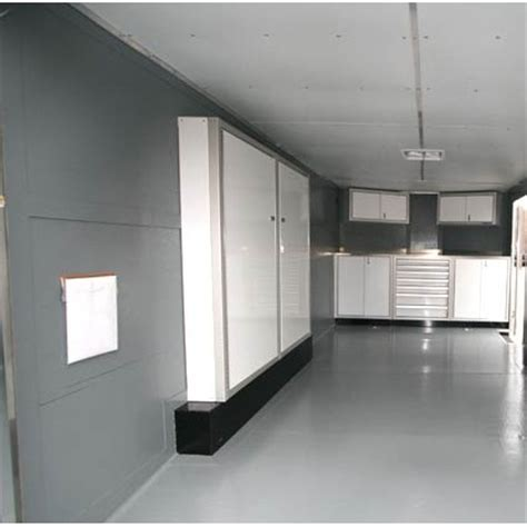 Enclosed Trailer Cabinets by Wheel Well Aluminum Storage Trailer Cabinets Moduline