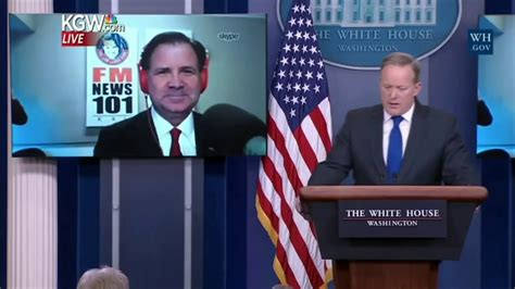 Lars Larson 'skype Seat' Question At White House Briefing
