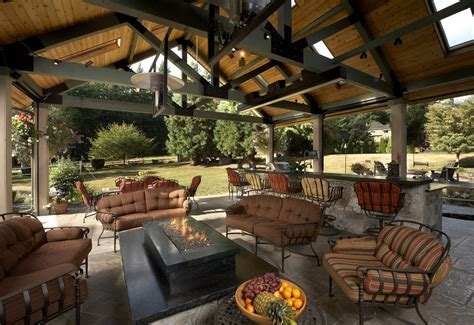 Small Space Kitchens Ideas - large covered outdoor living space remodel mcadams remodeling