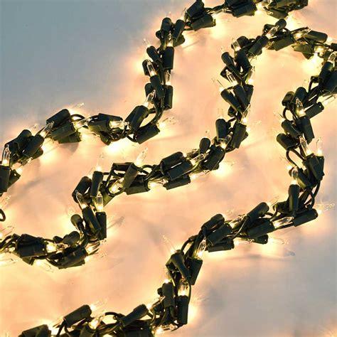 600 clear light cluster garland string light set green wire