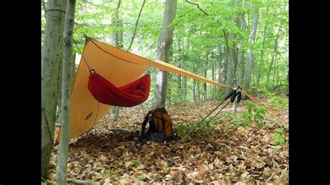 Tarp And Hammock by Using The Ust Hex Tarp As A Hammock Shelter